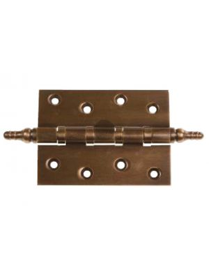 Antique Brass Hinge with Finials