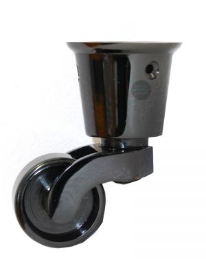 Black Nickel Round Cup Castor with Side Screws 38mm