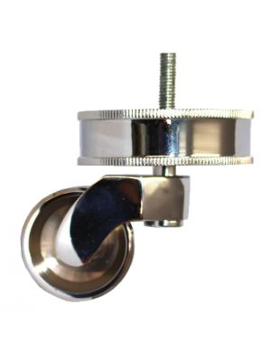 Chrome Castor Round Rope Cup with Threaded Bolt