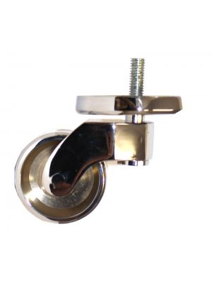 Chrome Castor Round Shallow Cup Extra Large with Threaded Bolt