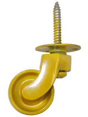 Yellow Screw Plate Castor - 32mm