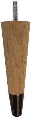 Agnes Solid Oak Tapered Furniture Legs with Antique Slipper Cups