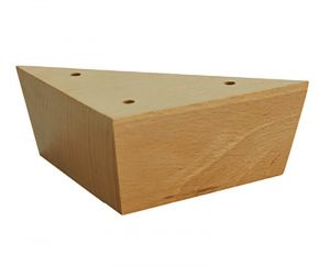 Simple Triangular Wooden Feet Natural